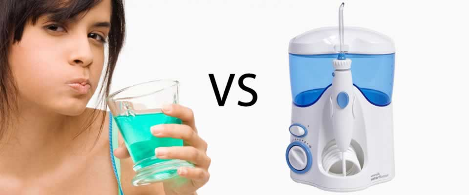 Mouthwash vs Waterpik