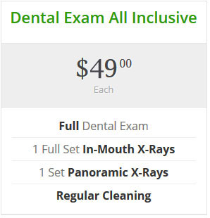 Dental Exam Discount: $49 for exam, x-rays, and cleaning
